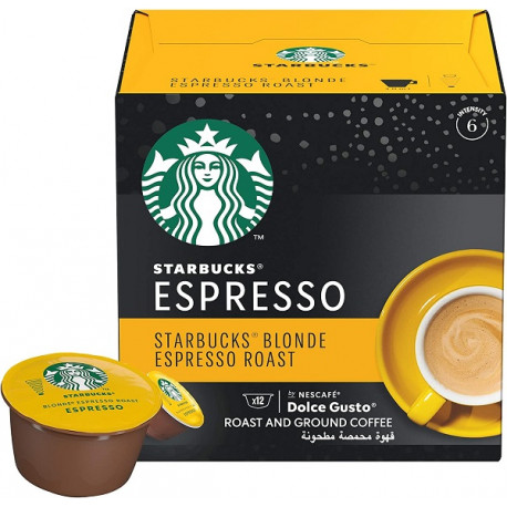 Starbucks Blonde Espresso Roast by NESCAFÉ Dolce Gusto Coffee12 Capsules