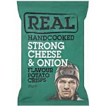 Real Handcooked Strong Cheese & Onion Potato Crisps 150g