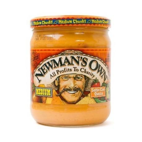Newman's Own Medium Salsa Con Queso 453g