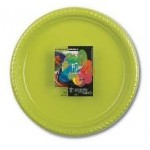 Fun 25 Olive Colored Plastic Plates 22cm