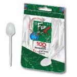 Fun 100 Plastic Tea Spoons