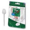 Fun 100 Plastic Tea Spoons