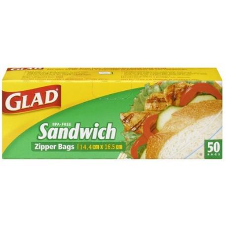 Glad Sandwich Zipper 50 Bags