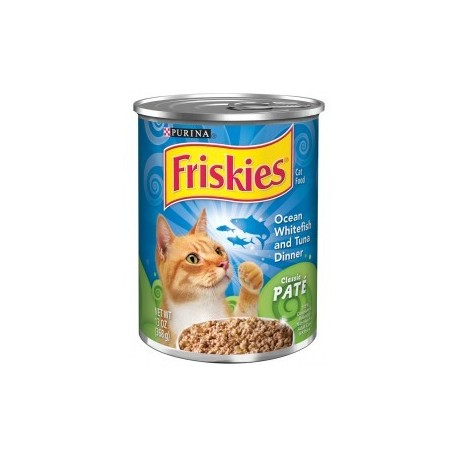 Purina Friskies Ocean Whitefish and Tuna Dinner Cat Food 368g