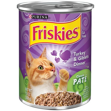 Purina Friskies Turkey & Giblets Dinner Cat Food 368g