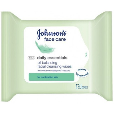 Johnson's Daily Essentials Facial Cleansing Wipes for Oily & Combination Skin