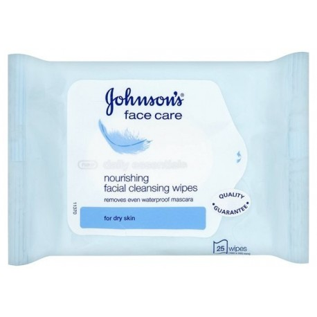 Johnson's Daily Essentials Facial Cleansing Wipes For Dry Skin