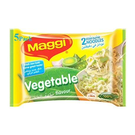 Maggi 2 Minute Noodles Vegetable Flavoure 5x77g
