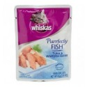 Whiskas Purrfectly Fish Tuna & White Fish Entree 85g