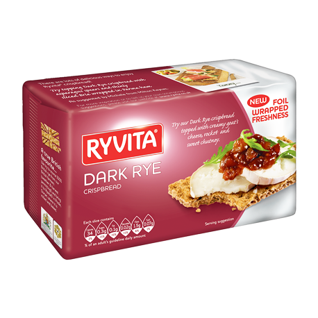 Ryvita Dark Rye Crsipbread 250g