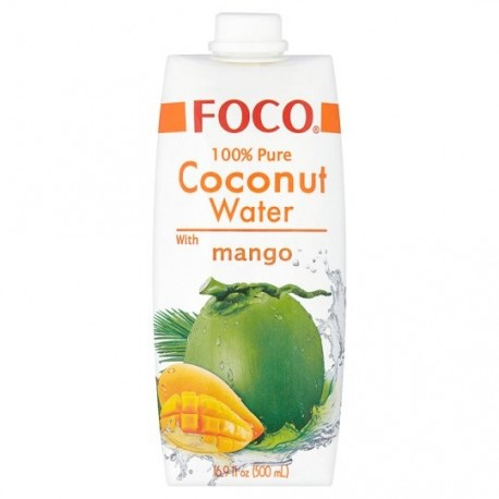 Foco Pure Coconut Water with Mango 500ml