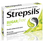 Strepsils Lemon Sugar Free 16 Lozenges