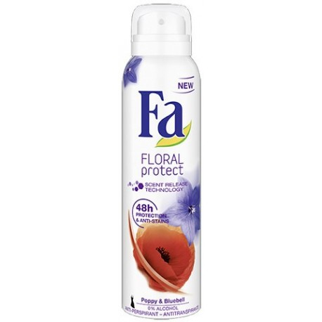 Fa Floral Protect Poppy & Bluebell Deodorant Spray 200ml