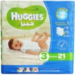 Huggies 3 Medium 4-9kg 21 Diapers