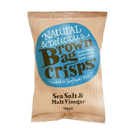 Brown Bag Crisps Sea Salt & Malt Vinegar 40g