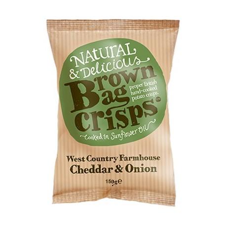 Brown Bag Crisps Cheddar & Onion 40g