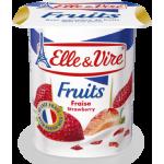 Elle & Vire Strawberry Fruit Yoghurt 125G