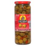 Figaro Stuffed Green Olives with Pimiento Paste 450g