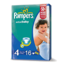 Pampers Active Baby 4, 7-14kg, 16 Diapers