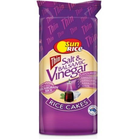 Sun Rice Thin Salt & Balsamic Vinegar Rice Cakes 195g