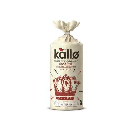 Kallo Organic Unsalted Wholegrain Low Fat Rice Cakes 130g
