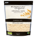 Bunalun Original Organic Porridge Oats 1KG