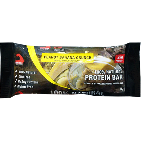 Limitless Supplements Peanut Banana Crunch Protein Bar 57g