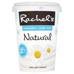 Rachel's Organic Low Fat Natural 2% Fat Bio-Live Yogurt 450g