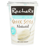 Rachel's Organic Fat Free Greek Style Natural Bio-Live Yogurt 450g