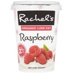 Rachel's Organic Low Fat Raspberry Bio-Live Yogurt 450g