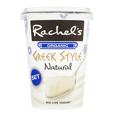 Rachel's Organic Set Greek Style Natural Yogurt 450g